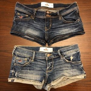 Pair of EUC Hollister Jean Shorts - Size 1 / 25
